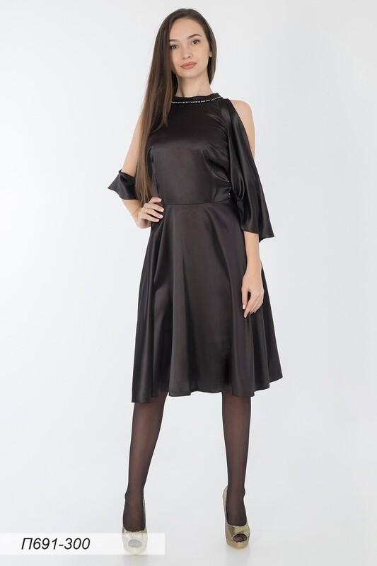 Платье 691 шелк-шифон черный