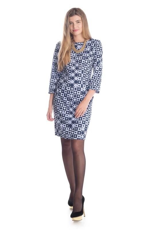 Платье 545 тр-ж Академия сине-сиреневый Турнир
