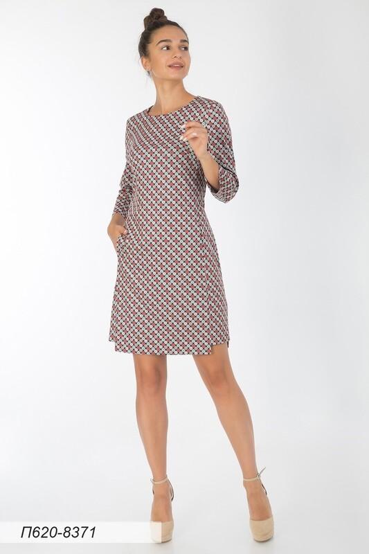 Платье 620 тр-ж черно-кораллов Куб