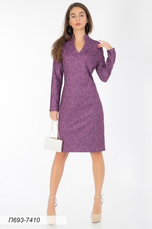Платье 693 тр-ж лиловый Манчестер