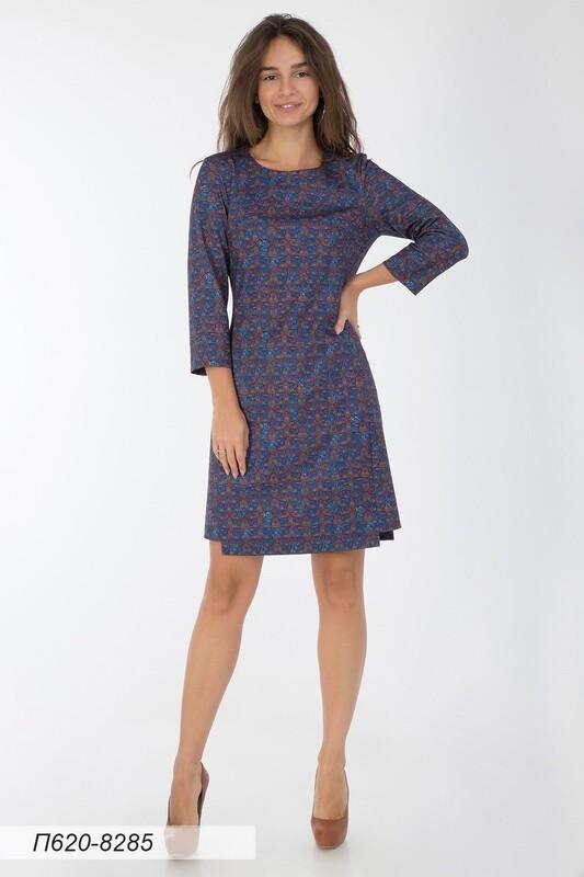 Платье 620 тр-ж сине-медный Этника