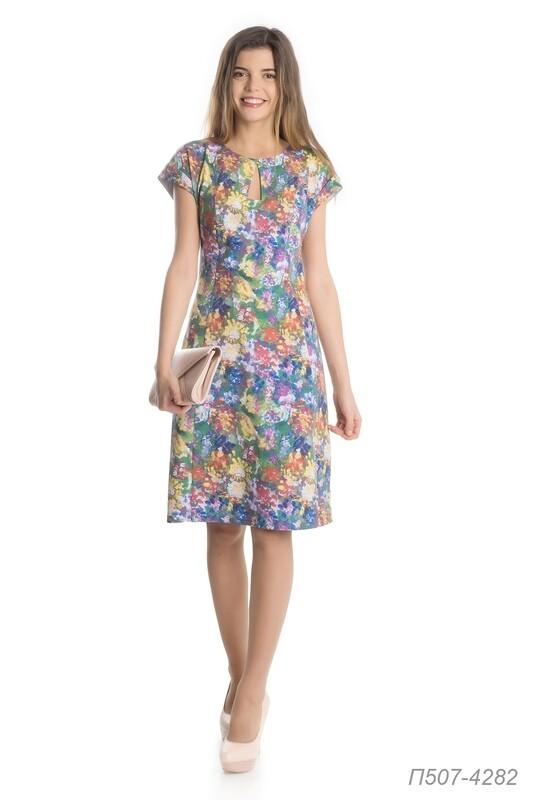 Платье 507 вискоза зеленая Краски