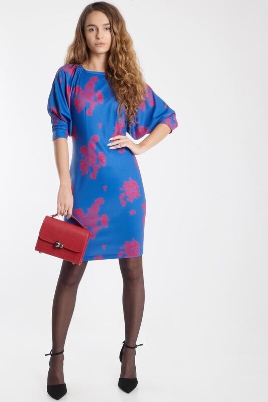 Платье 480 тр-ж Лакоста сине-красный Роза