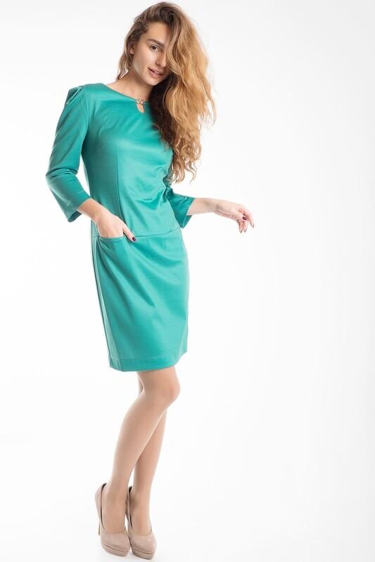 Платье 484 тр-ж Академия зеленый