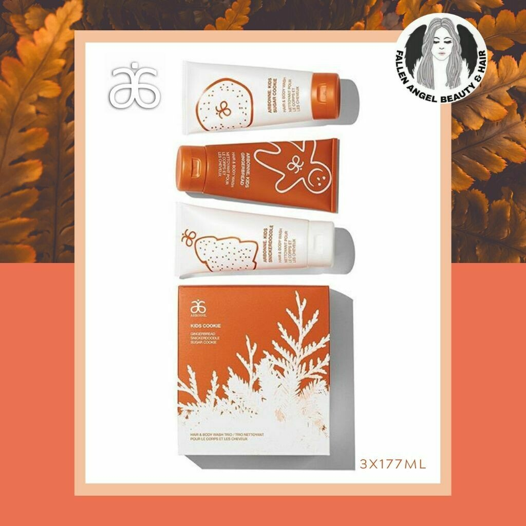 Arbonne Holiday Edition Kids Cookie Hair & Body Wash Trio