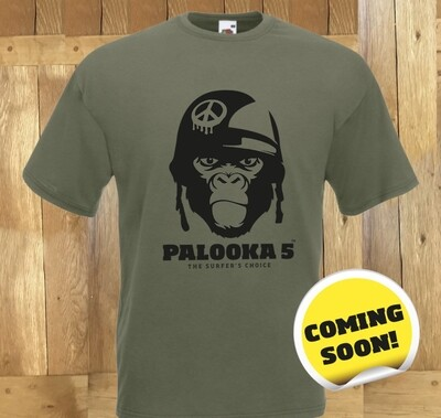 Palooka 5 T-shirt in Camo Green and Red