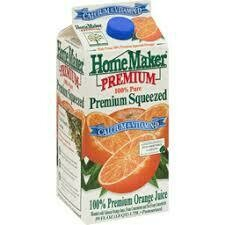 1/2 Gallon of Home Maker Orange Juice