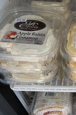 Apple Raisin Cinnamon Cream Cheese Spread (8 oz)
