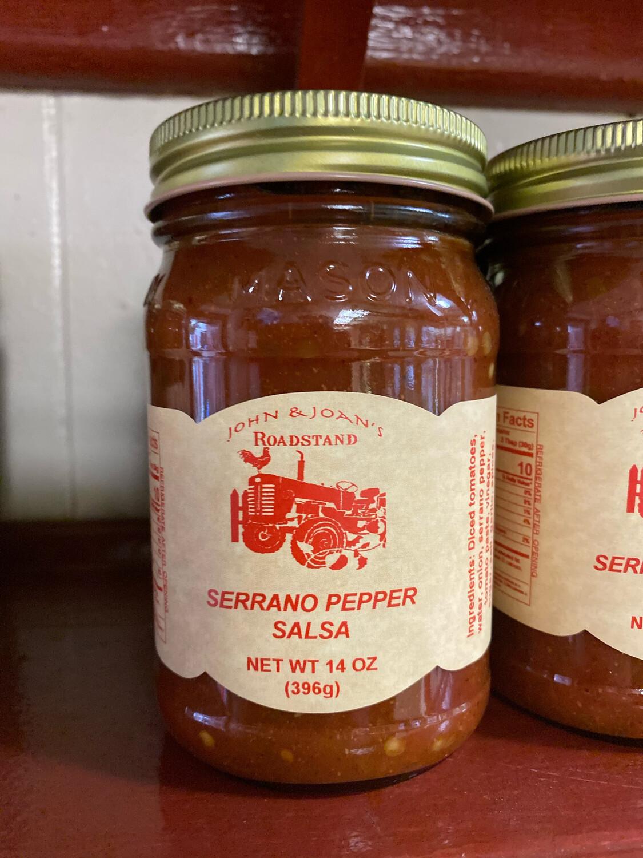 Serrano Pepper Salsa (14 oz.)