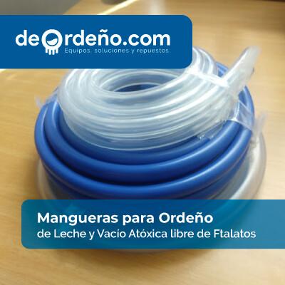Mangueras para equipos de Ordeño transparente para paso de aire y leche x Metro