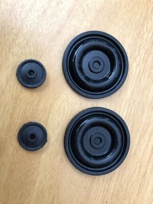 Kit de membranas de caucho en caucho para reparación de pulsador de ordeño