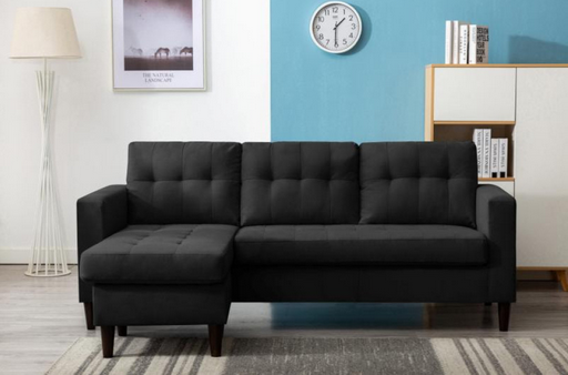 Kingdom Black Reversible Sectional