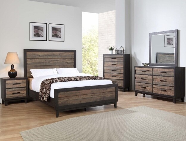 Tacoma Two Toned Queen Bedroom Set