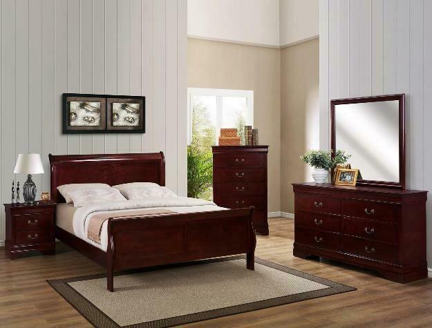 Louis Philip Bedroom set- Cherry