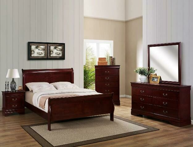 Louis Philip Bedroom set- Cherry *FALL SALE*