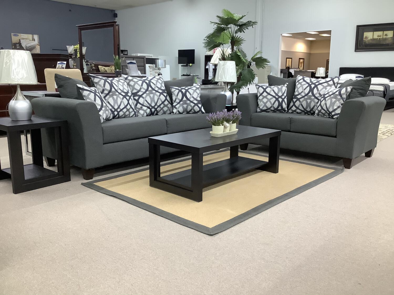 Darling Grey 7pc Living Room Package