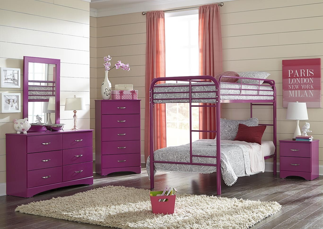 Raspberry Bunk Bed- Youth