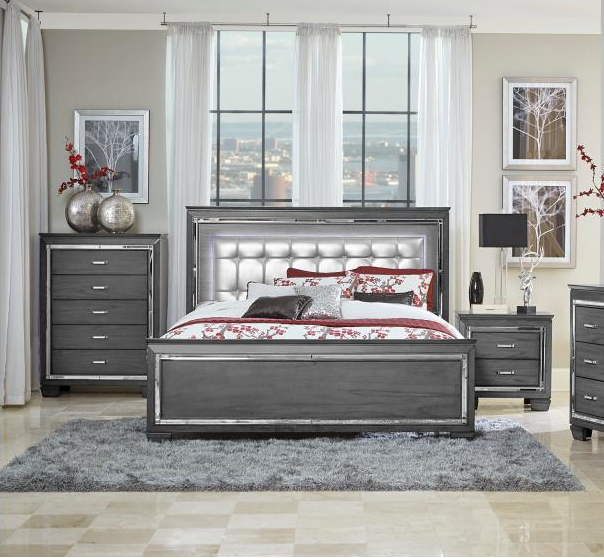 Aurora Queen Bedroom Set- LED Lighting