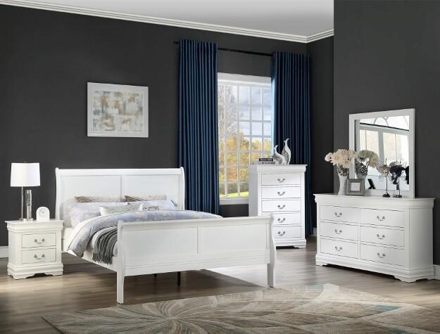 White Louis Philip Bedroom set