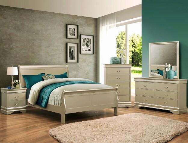 Louis Philip Bedroom set- Champaign