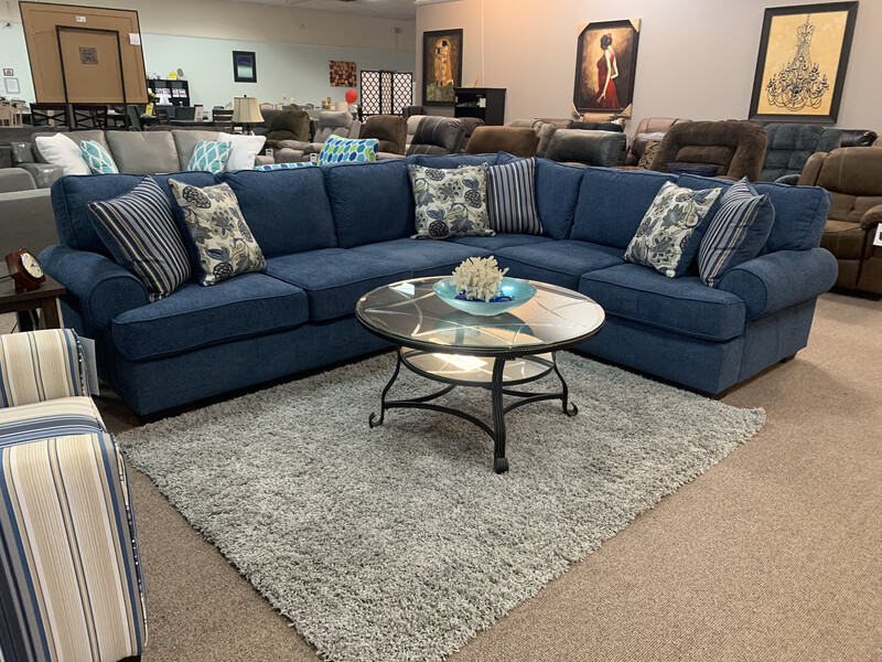 Angie Sectional- Blue