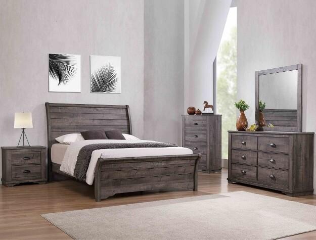 Coral Queen Bedroom Set - Grey