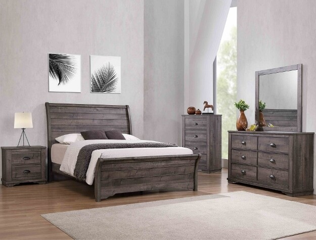 Coral Queen Bedroom Set - Grey