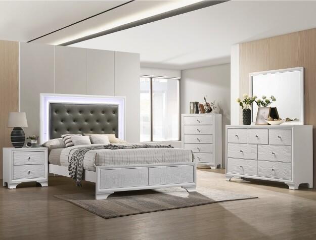 Lisa Queen Bedroom Set - White