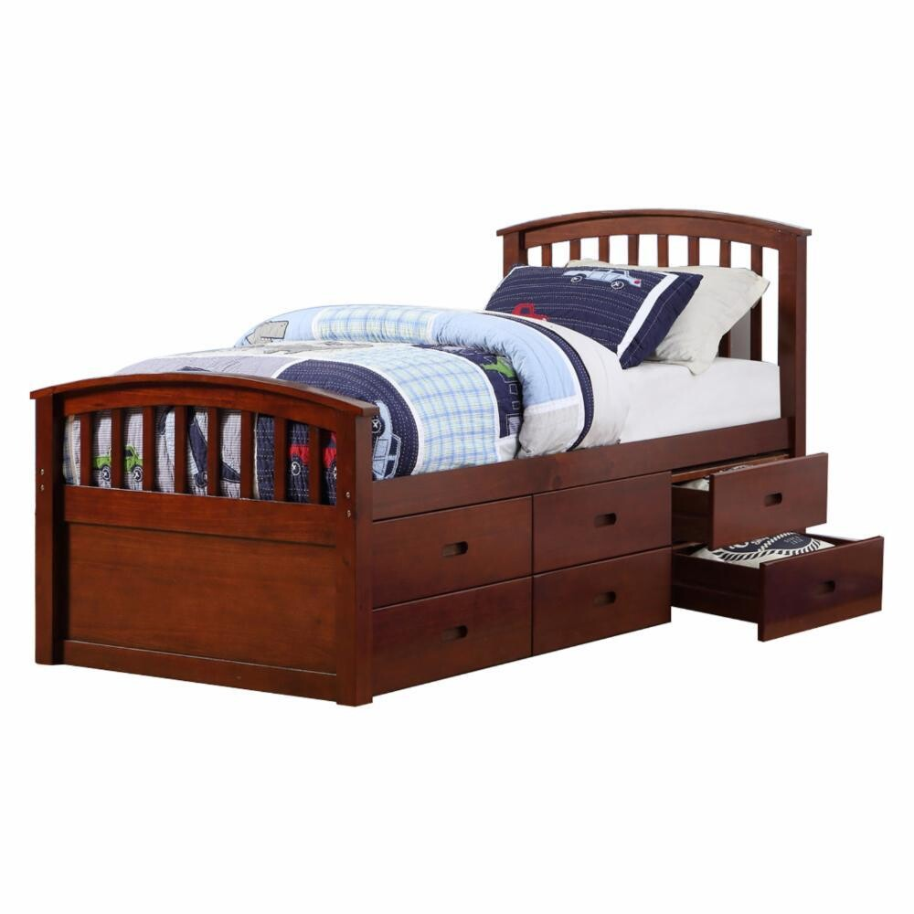 Twin 6 drawer Captain bed