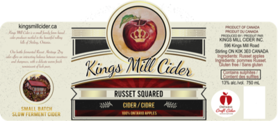 RUSSET SQUARED Carbonated 750 mL