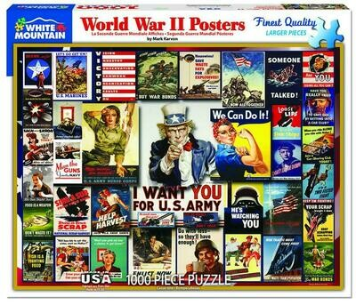 WWII Poster Collage Puzzle - 1000