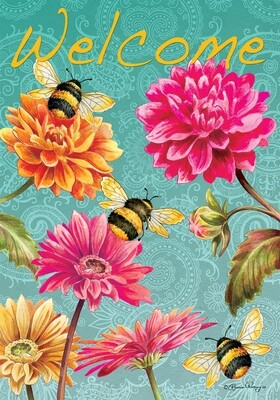 Bumblebees in the Garden Flag