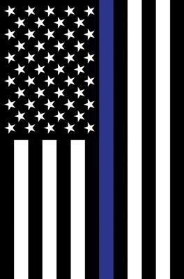Applique Police Support Flag