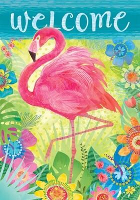 Flamingo Floral Flag