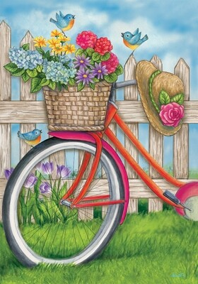 Bicycle Basket Flag