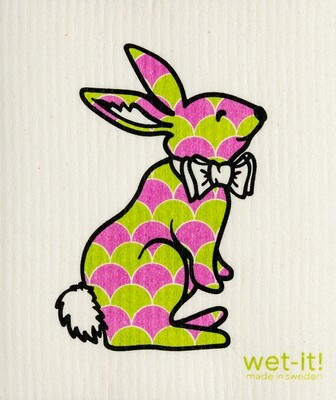 Pink and Green Bunny Wet-it