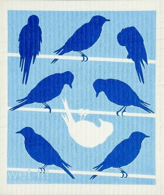 Birds on Wire Wet-it