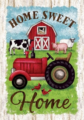 Tractor and Barn Flag