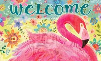 Flamingo Floral Mat