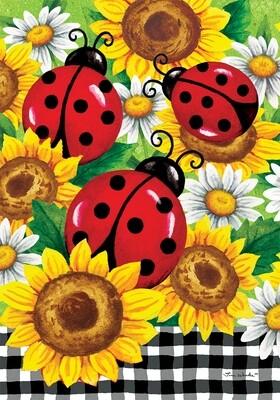 Sunflower Ladybugs Flag