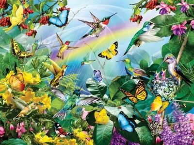 Hummingbird Sanctuary Puzzle - 1000 piece