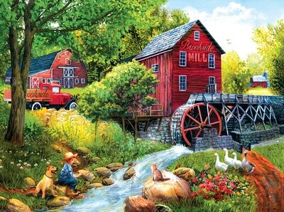 Playing Hookey at the Mill - 1000 piece