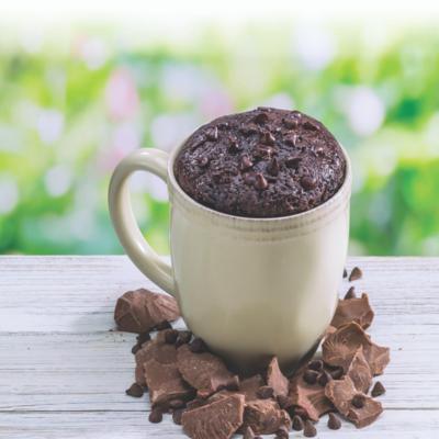Double Chocolate Chip Brownie Mug Cake