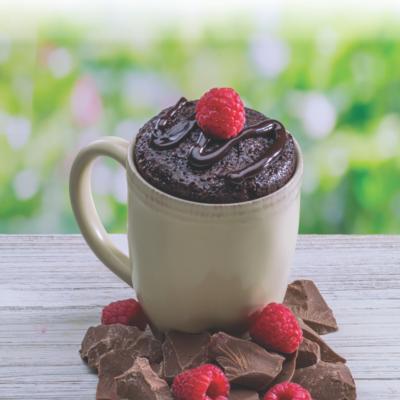 Chocolate Raspbery Cheesecake Mug Cake