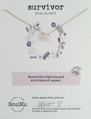Soul-Full Necklace Rose Quartz - Survivor