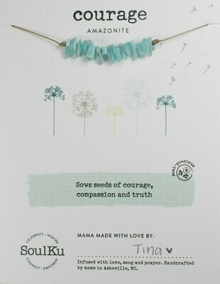 Seed Necklace Amazonite- Courage