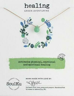 Soul-Full Necklace Green Aventurine - Healing