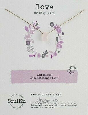 Soul-Full Necklace Rose Quartz - Love