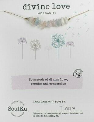 Seed Necklace Morganite- Divine Love