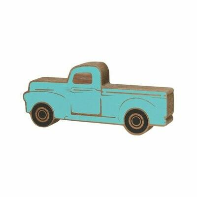 Sm. Blue Truck Wood Cutout